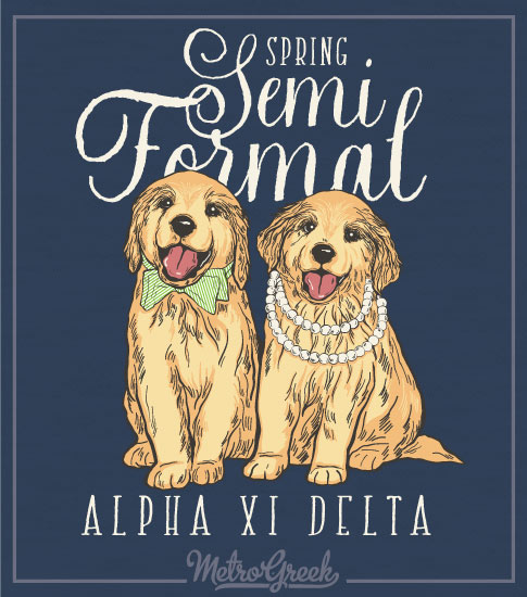 Alpha Xi Delta Puppy Formal Shirt