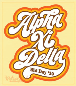 Alpha Xi Delta Retro Seventies T-shirt