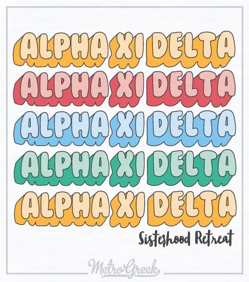 Alpha Xi Delta Retreat T-shirt