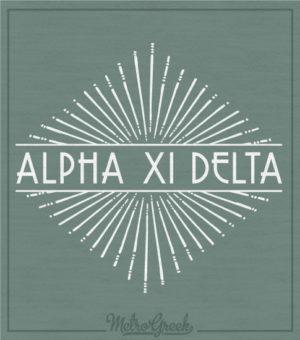 Alpha Xi Delta Sunburst T-shir