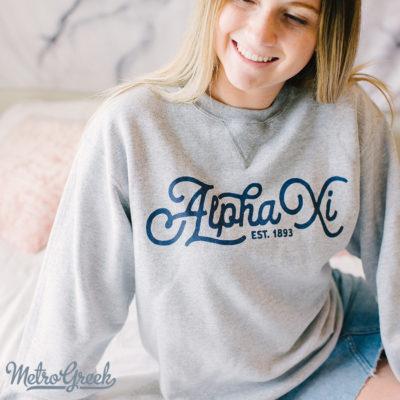 Alpha Xi Delta Sweatshirt Script
