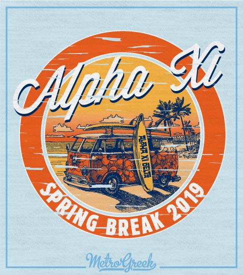 Alpha Xi Delta Spring Break T-shirt