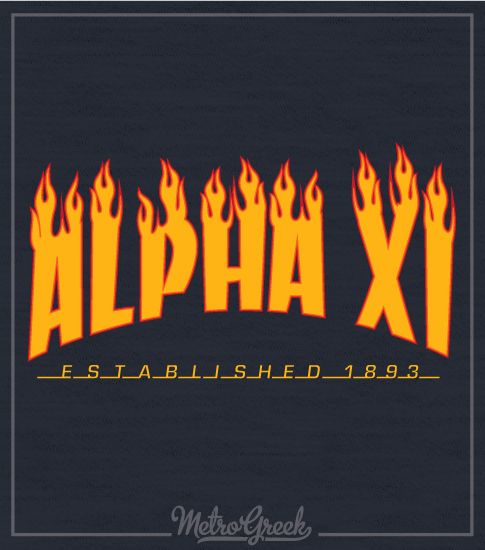 Alpha Xi Delta Skateboard Shirt