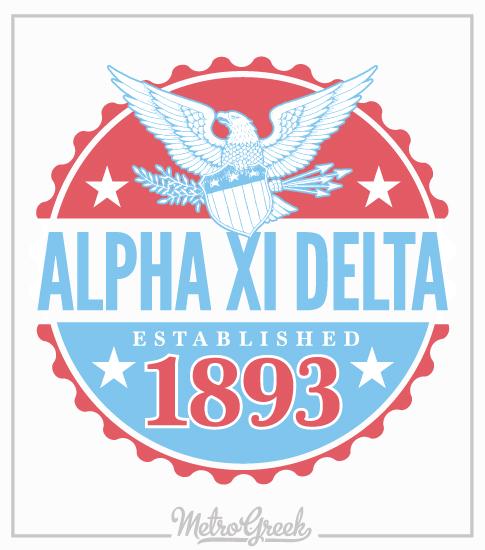 Alpha Xi Delta Shirt Americana