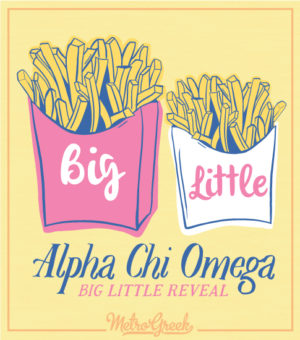 Big Little Reveal T-shirts French Fries