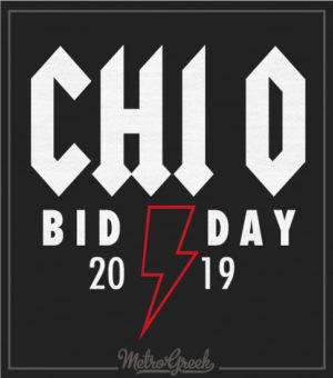 Chi Omega Rock Bid Day shirt