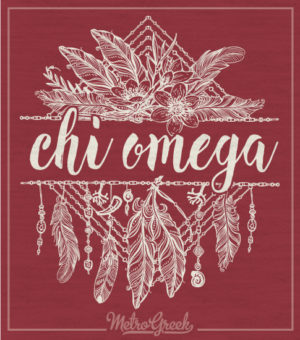 Chi Omega Feather Tribal T-shirt