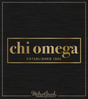 Chi Omega Gold Foil Tank Top
