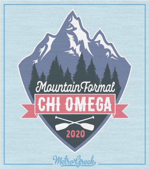 Chi Omega Mountain Formal Shirt