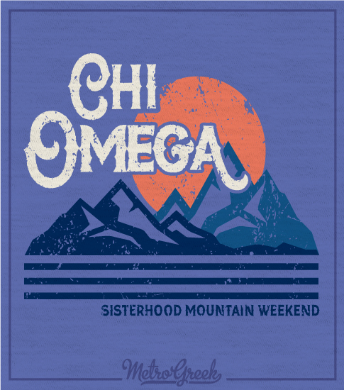 Chi Omega Mountain T-shirts
