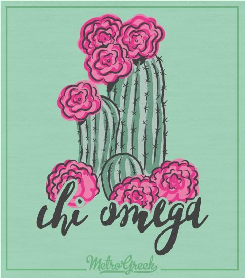 Chi Omega Shirt Bid Day Desert Cactus