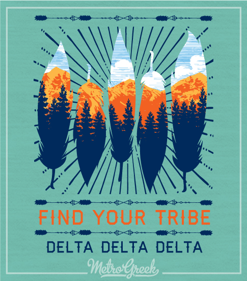 Delta Delta Delta Find Your Tribe T-shirt