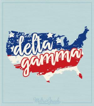 Delta Gamma American T-shirt