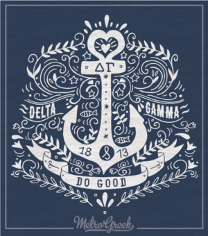 Delta Gamma Long Sleeve Anchor T-shirt