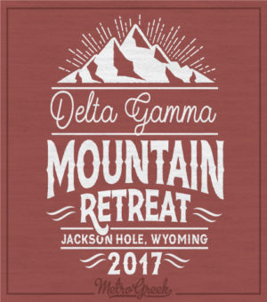 Delta Gamma Mountain Retreat Shirt