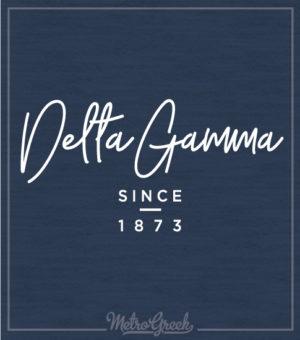 Delta Gamma Founders Script Shirt