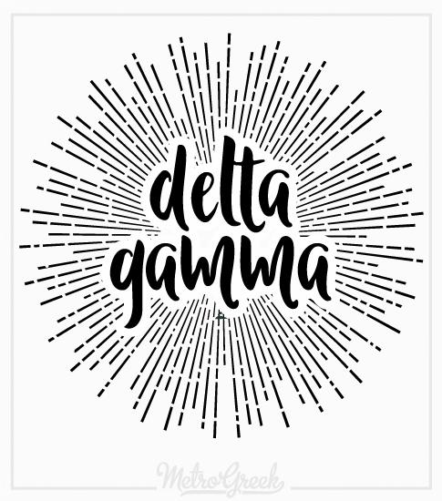 Delta Gamma Sunburst Slouchy Tank