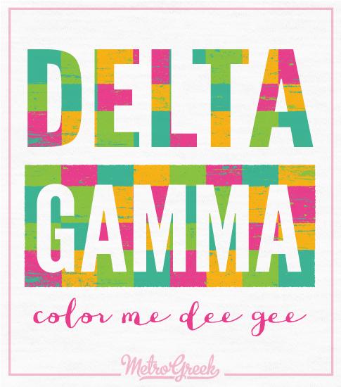 Delta Gamma T-shirt Color Me Dee Gee