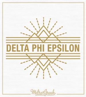 Delta Phi Epsilon Gold Foil T-shirt