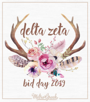 Delta Zeta Bid Day T-shirt Desert Rose