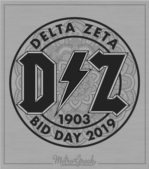 1493 Delta Zeta Bid Day Rock T-shirt | Greek Shirts
