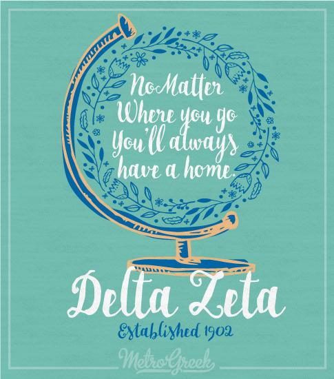 Delta Zeta Globe Recruitment T-shirt