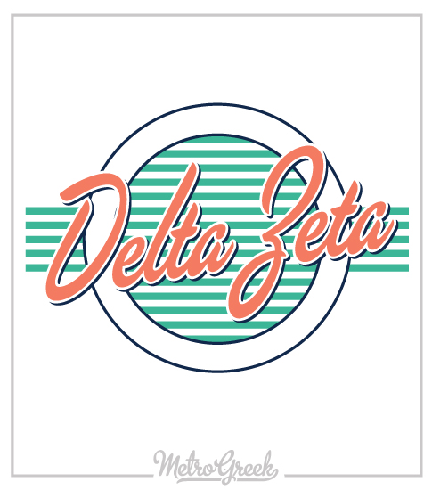 Delta Zeta Retro Seventies T-shirt
