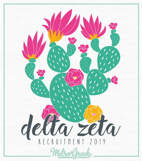 Delta Zeta Recruitment Cactus Shirt