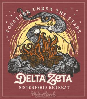 Delta Zeta Sisterhood T-shirt Campfire
