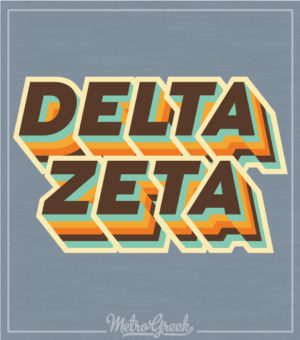 Delta Zeta Seventies Throwback Shirt