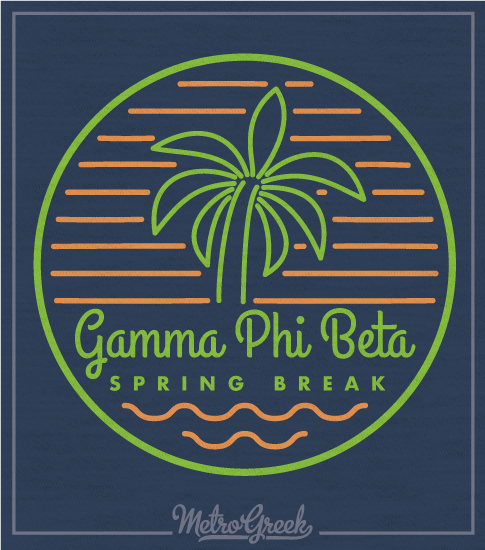 Gamma Phi Beta Spring Break T-shirt