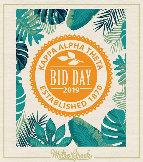 Theta Tropical Bid Day Tshirt