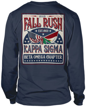 Kappa Sigma Rush Shirt Flags