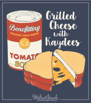 Kappa Delta Grilled Cheese Fundraiser Shirt