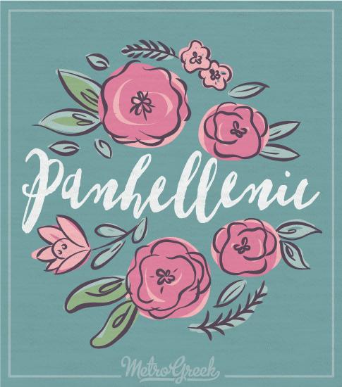 Panhellenic Floral Long Sleeve Shirt