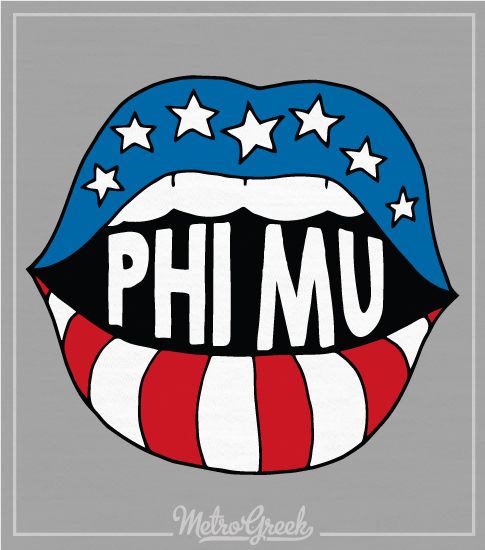 Phi Mu Bid Day Stars and Stripes