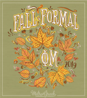 Phi Mu Fall Formal T-shirt Autumn Leaves