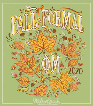 Phi Mu Formal Shirt Leaves