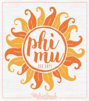 Phi Mu Slouchy Sun Tank Top