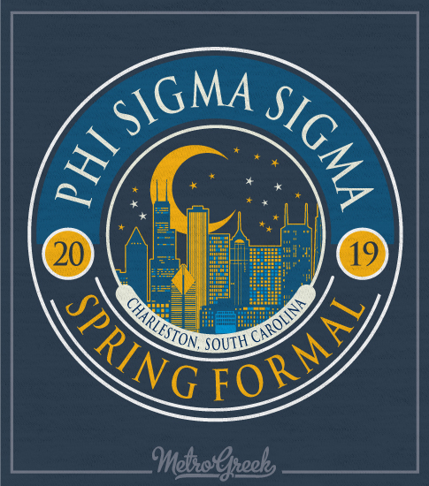 Phi Sigma Sigma Sorority Formal T-shirt