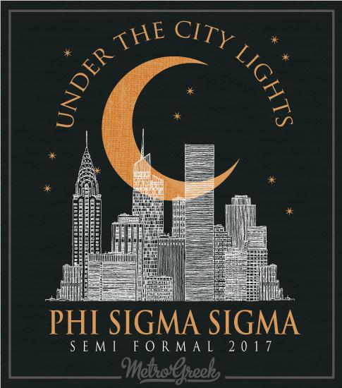 Phi Sigma Sigma Formal T-shirt