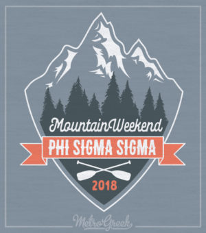 Phi Sigma Sigma Mountain Shirt
