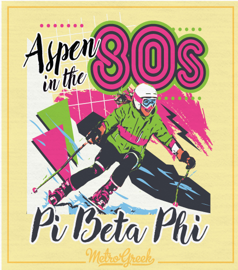 Pi Beta Phi Aspen in 80s Shirt