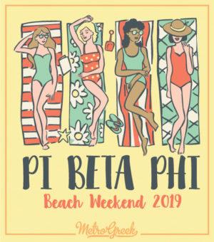 Pi Beta Phi Beach weekend T-shirt