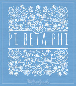 Pi Beta Phi Floral Tank Top