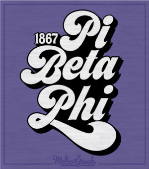 Phi Beta Phi Retro Type T-shirt
