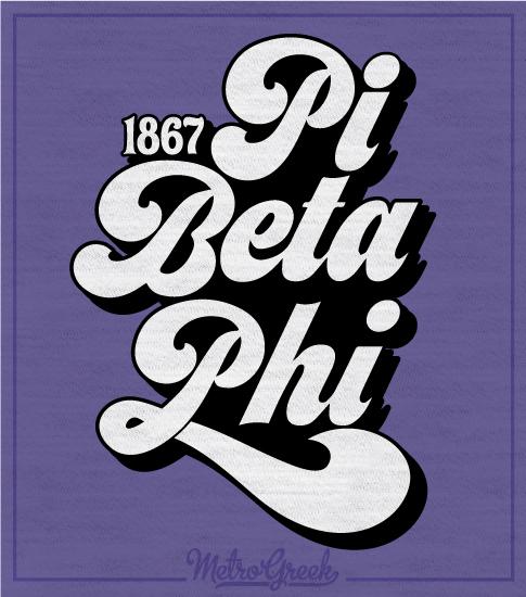 Phi Beta Phi Retro Type T-shirt
