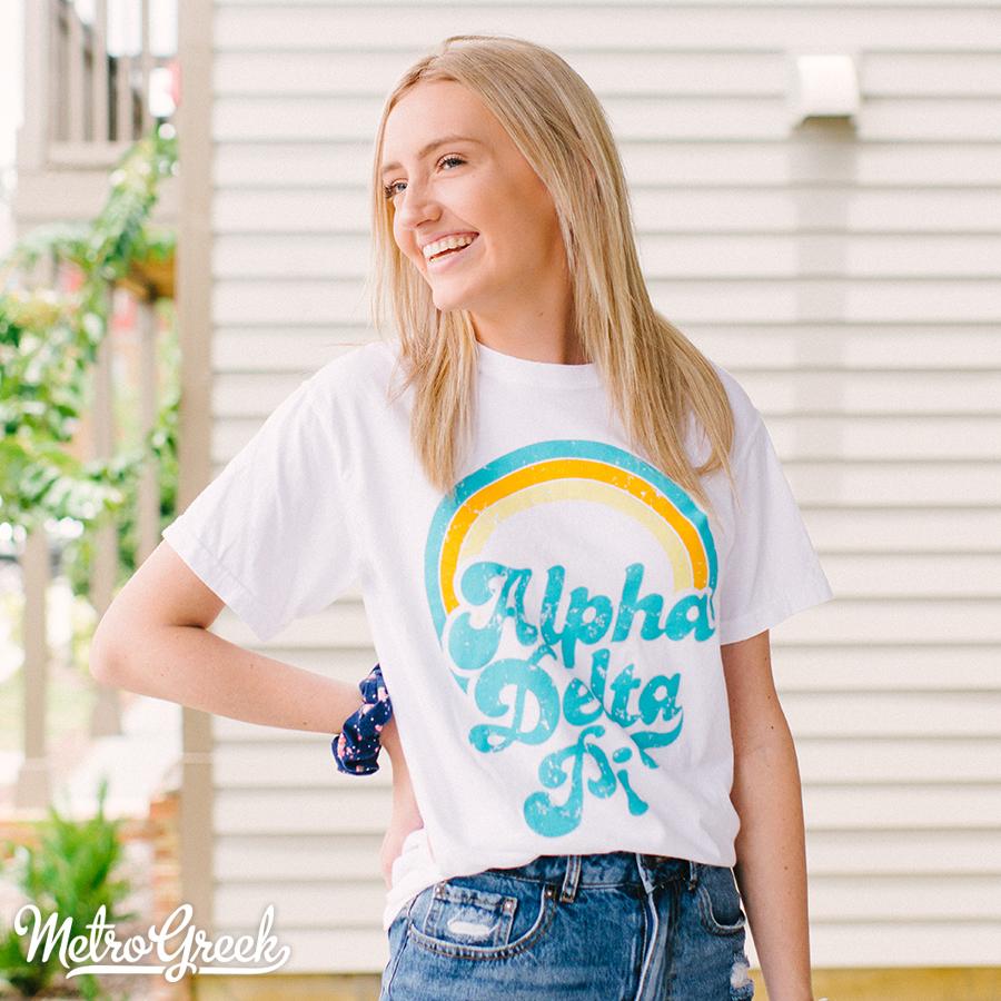 Alpha Delta Pi Throwback Style Shirt