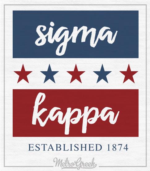 Sigma Kappa American Style T-shirt