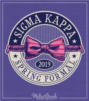 Sigma Kappa Formal T-shirt